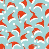 Seamless pattern of Santa hats.  — Stock Vector