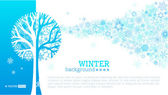 Vector winter tree background.  — Stock Vector