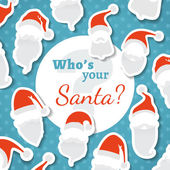Who's your Santa?  — Stok Vektör