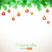 Vector watercolor Christmas background.  — Stok Vektör