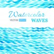 Vector watercolor waves background. — Stock Vector #59768009