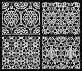Set of seamless geometric patterns.  — Stock Vector