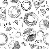 Seamless pattern of infographic elements. — Stockvektor