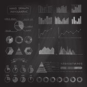Set of chalk business infographic. — Stock Vector