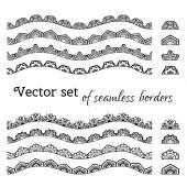 Vector set of seamless borders.  — Stock Vector
