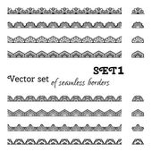 Vector set of seamless borders.  — Stock Vector