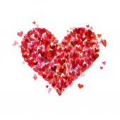 Heart of various hearts. — Vettoriale Stock
