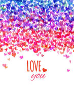 Bright Valentine's background. — Stock Vector