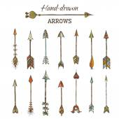 Set of hand-drawn arrows.  — Stock Vector