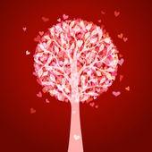 Bright love tree.  — Stockvektor