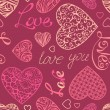 Valentine's seamless pattern. — Stock Vector #62761081