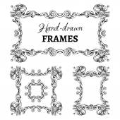 Set of vintage ornate frames. — Stock Vector