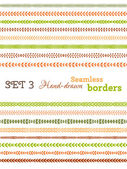 Vector set of colourful seamless borders.  — Stock Vector