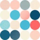 Seamless pattern of circles. — Stock Vector