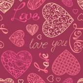 Valentine's seamless pattern.  — Stock Vector