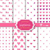 Light seamless pencil patterns of hearts.  — Stock Vector