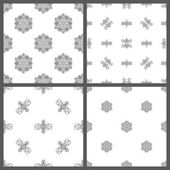 Set of seamless hand-drawn patterns.  — Stock Vector
