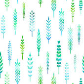 Seamless pattern of watercolor leaves.  — Stock Vector