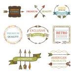 Vector logo templates with arrows. — Stock Vector #66250339