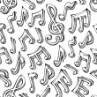 Постер, плакат: Vector seamless pattern of sketch music notes