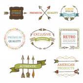 Vector logo templates with arrows. — Stock Vector