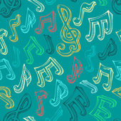 Retro seamless music pattern. — Stock Vector