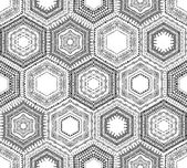 Crochet seamless hexagons pattern.  — Stock Vector