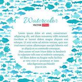 Vector watercolour fish background.  — Stock Vector