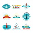 Vector set of summer design elements. — Stock Vector #68409245