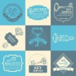Vector set of keys design elements. — Cтоковый вектор #68409447