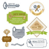 Vector set of keys design elements. — Stock Vector