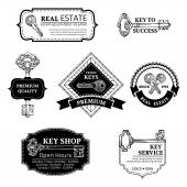 Set of vector keys logo templates. — Stock Vector