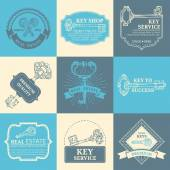 Vector set of keys design elements. — Vector de stock