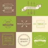 Vector set of arrows design elements. — Stock Vector