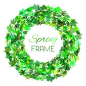 Moldura redonda de primavera. — Vetor de Stock