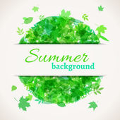 Summer background with white stripe for your text.  — Vector de stock