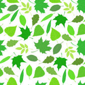 Seamless pattern of green leaves. — Stock Vector