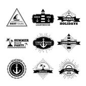 Vector summer logo templates. — Stock Vector