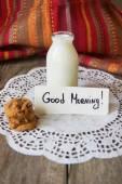 Cookie  with milk — Stock Photo