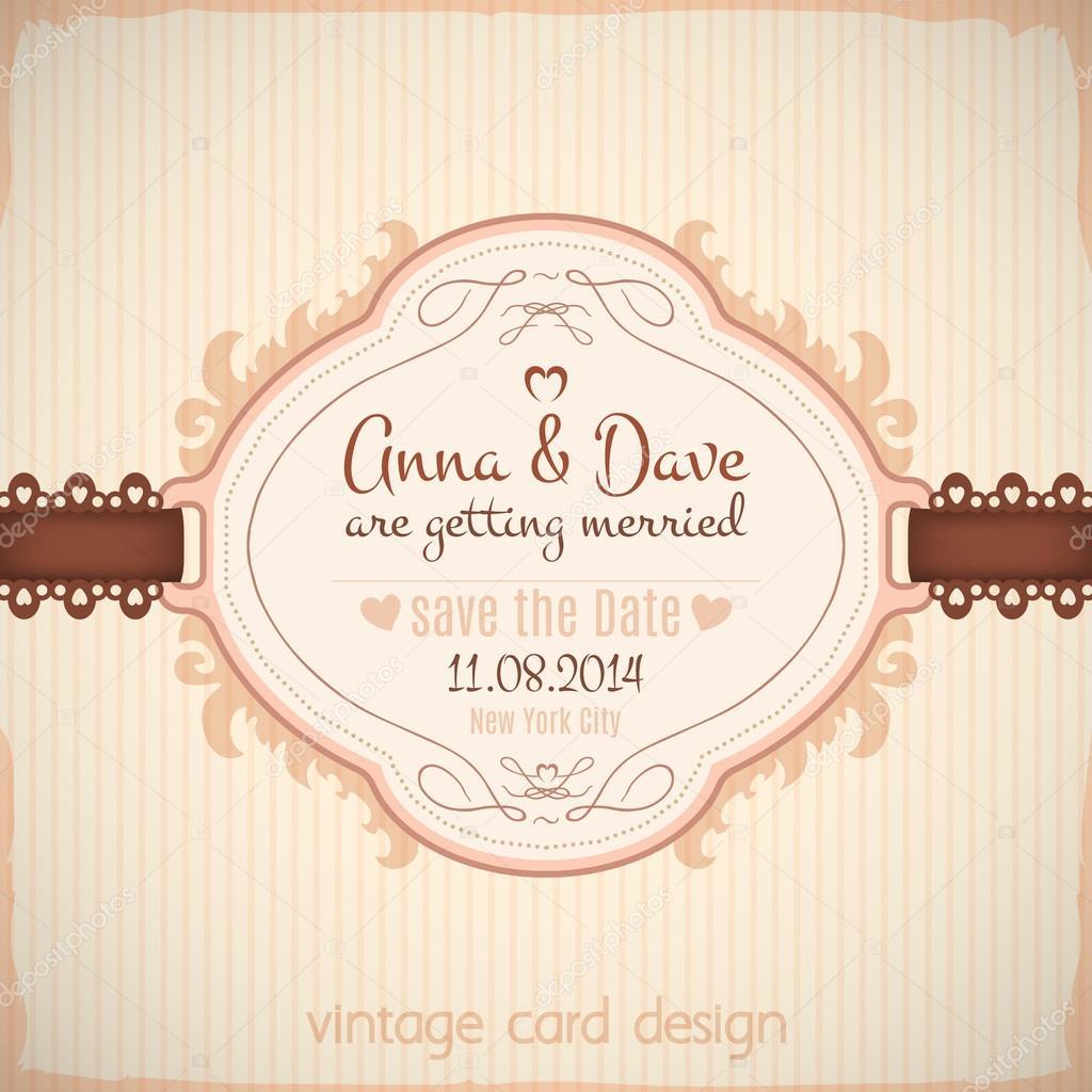 Speichern Sie die Datums-Hochzeits-Postkarten