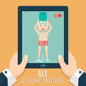 ALS Ice bucket challenge concept — Stock Vector