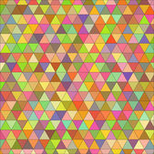 Vector seamless texture of colored triangles — Vettoriale Stock