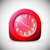 Rode klok — Stockvector