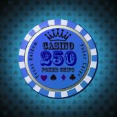 Poker Chip 250 — Stock Vector