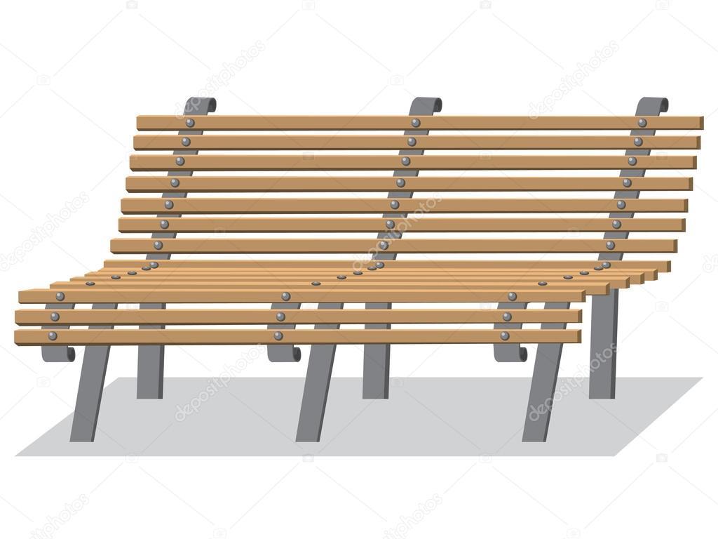 Banco de dibujos animados aislado sobre fondo blanco - Imagenes de bancos para sentarse ...