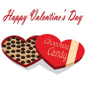 Valentine's Day box of chocolate candy white background — Stockvector