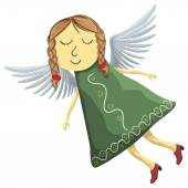 Fairy angel isolated on white background — Stock Vector