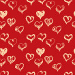 Valentines day hand drown hearts seamless pattern — Stock Vector #62570973