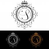 Letter S. Luxury Logo template flourishes calligraphic elegant ornament lines. Business sign, identity for Restaurant, Royalty, Boutique, Hotel, Heraldic, Jewelry, Fashion, vector illustration — ストックベクタ