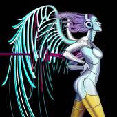 Cyber Angel — Stock Vector